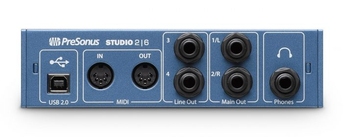 PreSonus Studio 26 back