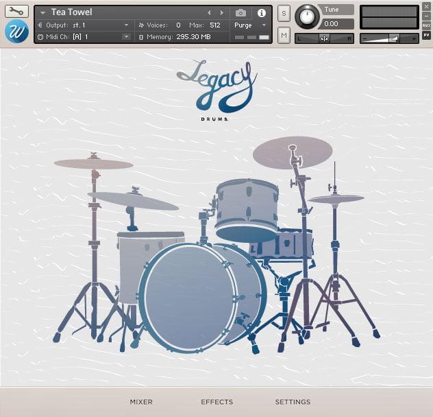 Wavesfactory Legacy Drums - Tea Towel Drums