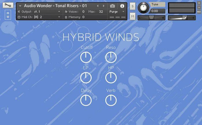 Audio Wonder Hybrid Winds GUI 2
