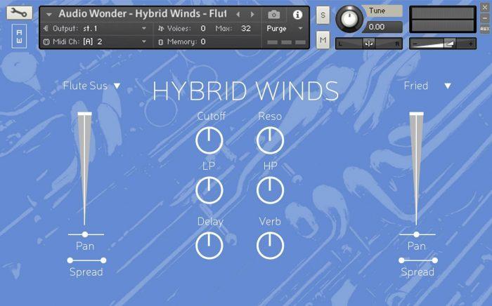 Audio Wonder Hybrid Winds GUI