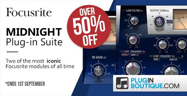 Focusrite Midnight Plug in Suite sale