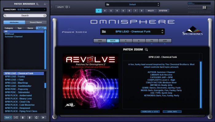 ILIO Revolve for Omnisphere 2 screen