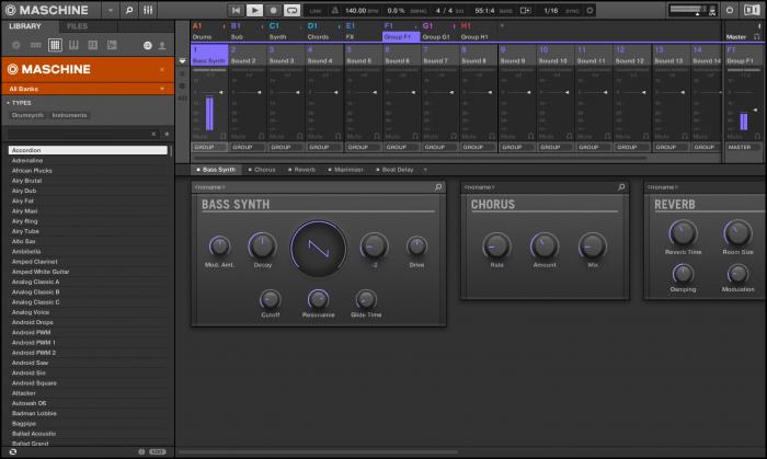 NI MASCHINE Bass Synth screenshot