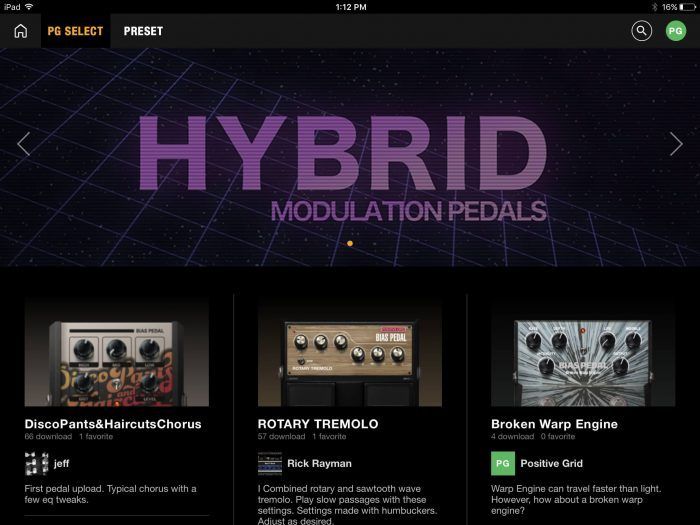 Positive Grid Tonecloud Hybrid Modulation