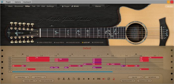 Ample Sound AG 12 riffer