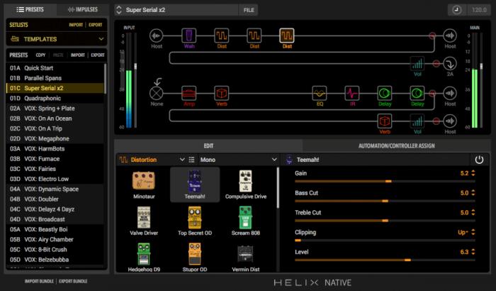 Line 6 Helix Native UI