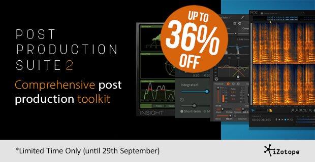 iZotope Post Production Suite 2 sale