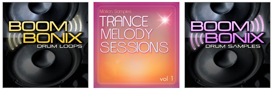 Motion Samples Trance Melody Sessions vol1, Boombonix Drum Loops and Samples