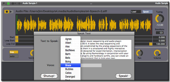 Numerology 2.2 Speech Synthesis