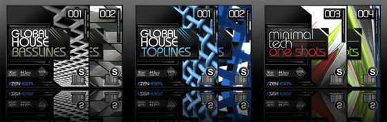 Zenhiser Global House Basslines, Global House Top Lines, and Minimal Tech One Shots
