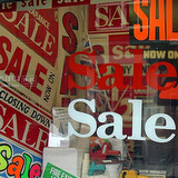 Sale In A Sale Shop Selling Sale Signs (by the justified sinner @ Flickr
