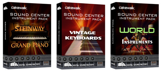 Cakewalk Sound Center Expansion Packs
