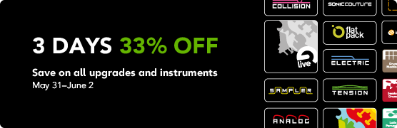 Ableton 3 Days 33% Off