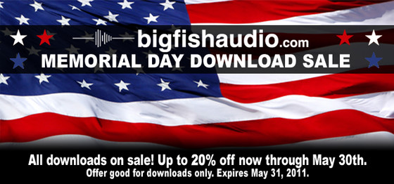 Big Fish Audio Memorial Day Download Sale