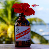 AfroDJMac Red Stripe Bottle Synth