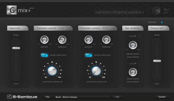 G-Sonique Transient shaping system+