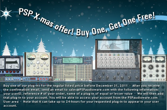 PSP Audioware Xmas Offer
