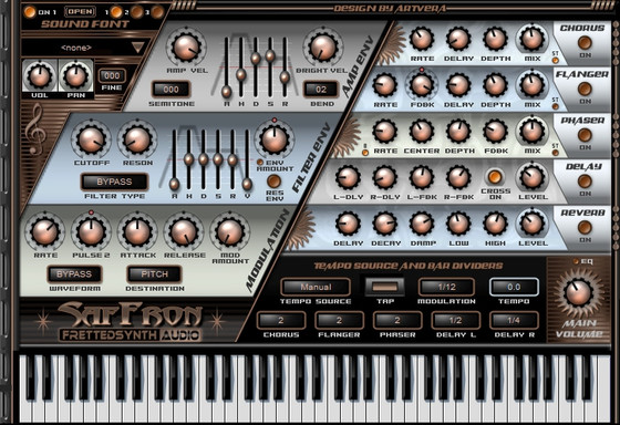 Fretted Synth SafFronSE freeware SoundFont synth VST plug-in +