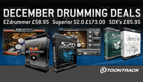 Toontrack December Drumming Deals