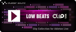 Cluster Sound Low Beats Clipbox