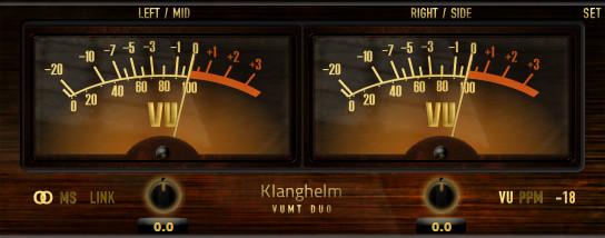 Klanghelm VUMT VU-meter, PPM and trim effect plugin updated