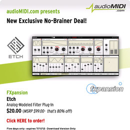 audioMIDI FXpansion Etch No-Brainer