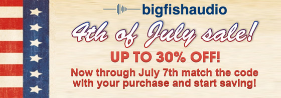 Big Fish Audio 4th of July Sale