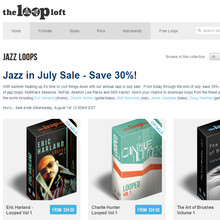 Jazz in July Sale at The Loop Loft