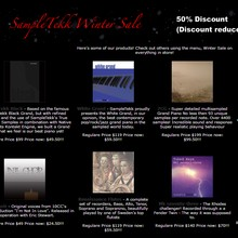 SampleTekk Winter Sale