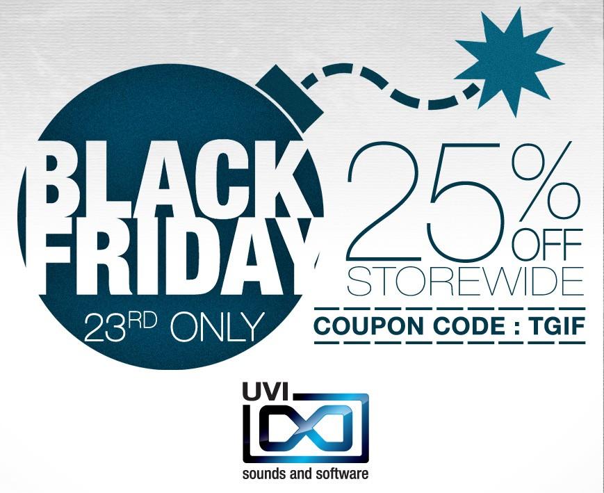 UVI Black Friday Sale
