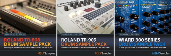 Minimal System Instruments drum sample packs