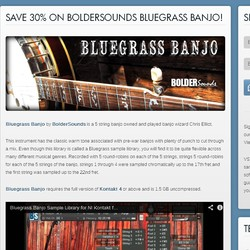Bluegrass Banjo sale at VST Buzz