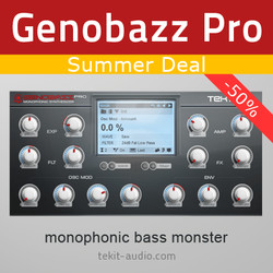 Tek'it Audio Genobazz Pro Summer Deal