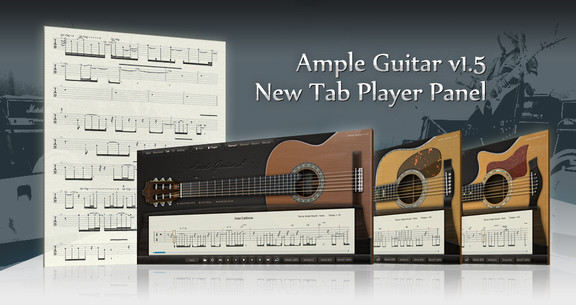 Ample Sound plugins with Tablature Player