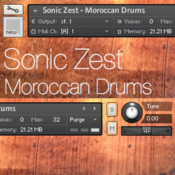 Sonic Zest Morrocan Drums