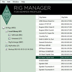 Kemper RigManager