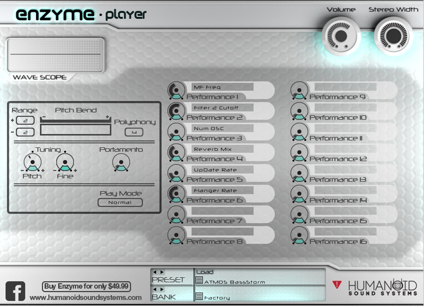 Humanoid Sound Systems Enzyme Player