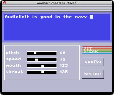 Wavosaur VST Speek text to speech plug-in now VST/AU for Mac