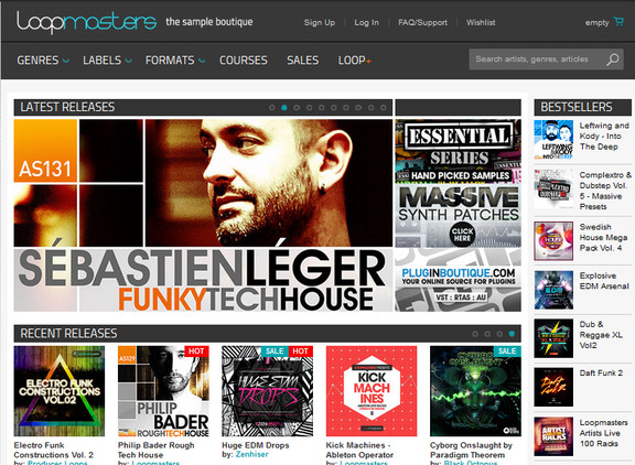 Loopmasters website