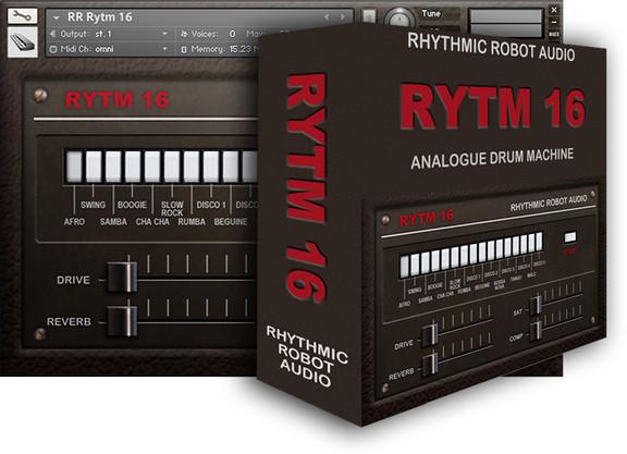 rytm16 drum machine instrument for kontakt by rhythmic robot. Black Bedroom Furniture Sets. Home Design Ideas