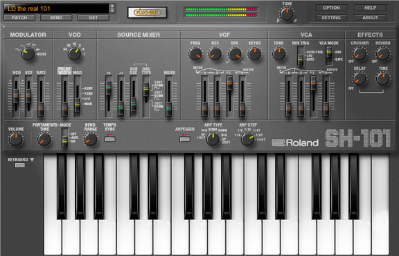 Roland SH-101 PLUG-OUT software synthesizer