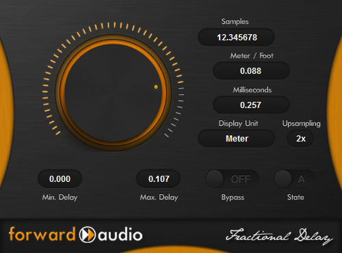 Forward Audio Fractional Delay