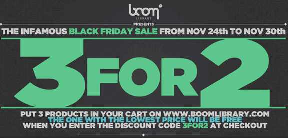 Boom Library Black Friday Sale