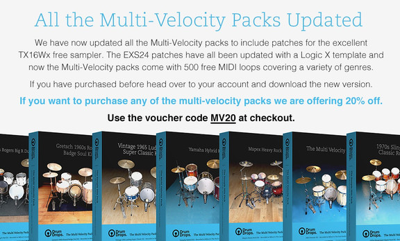 Drumdrops Multi-Velocity packs