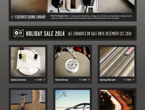 New Sound Lab Holiday Sale 2014