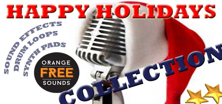 Orange Free Sounds Happy Holidays Collection
