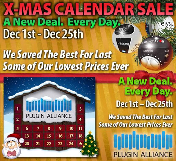 Plugin Alliance X-Mas Calendar Sale
