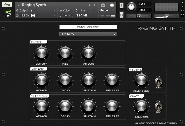 Sample Diggers Raging Synth