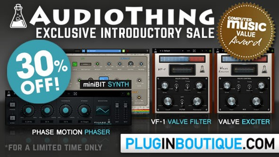 30% off AudioThing at Plugin Boutique