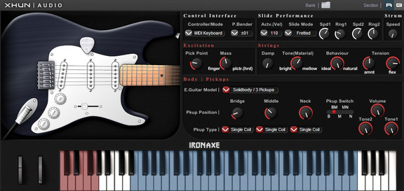 xhun audio ironaxe electric guitar plugin updated to v1 8. Black Bedroom Furniture Sets. Home Design Ideas
